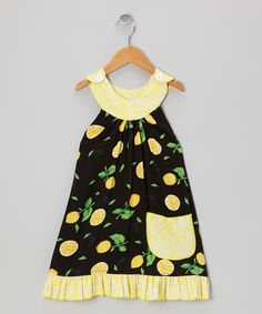 Take a look at this Black Lemons Trapeze Dress - Toddler & Girls by Beary Basics on #zulily today!