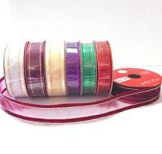Metallic Nylon Ribbon By The Spool by BevmarDesigns on Etsy