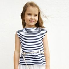 French Marinière for girls.  Now available at www.claradeparis.com
