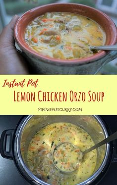 Pressure cooker meals 423831014928627228 - Lemon Chicken Orzo Soup made in the Instant Pot or Pressure Cooker. A healthy soup with lots of tender and orzo bursting with lemony flavors. A perfect meal for the cold weather! Greek Lemon Chicken Soup, Lemon Chicken Orzo Soup, Chicken Curry, Chicken Salad, Instant Recipes, Instant Pot Dinner Recipes, Instant Pot Pressure Cooker, Pressure Cooker Recipes, Pressure Cooking