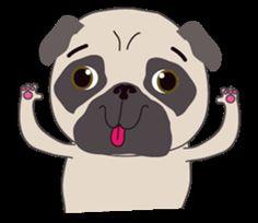 Baby Funny Pug - LINE クリエイターズスタンプ
