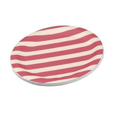 Antique White and Brick Red Diagonal Stripes Paper Plate - simple clear clean design style unique diy