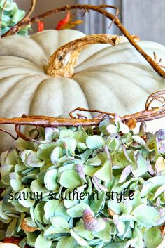 Savvy Southern Style: Natural Fall Centerpiece