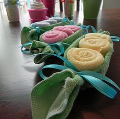 Baby Washcloth Pea Pod  Unique Baby Shower Gifts and by BabyBinkz. , via Etsy.
