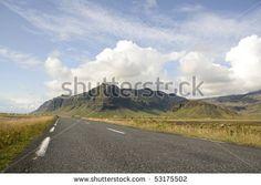 stock photo : Empty road, Iceland
