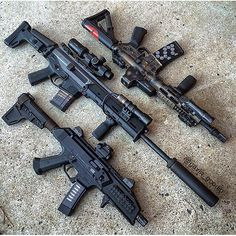 GunsDaily — By @gavin_goodin Moving up in the world! SBR, ACR,...