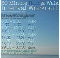 30 min Walk and run workout
