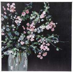 Canvas Wall Decor, Diy Canvas Art, Hobby Lobby Flowers, Wall Decor Online, Square Canvas, Flower Canvas, Bathroom Wall Art, White Vases, Green Flowers