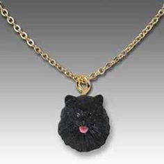 Pomeranian Black Pendant
