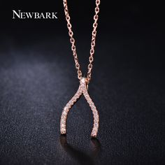 Find More Pendant Necklaces Information about NEWBARK Extraordinary Wishbone V…