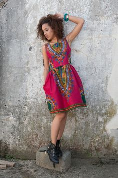 Abiti al ginocchio - Dress from Gambia - Addis Abeba - un prodotto unico di KOKOworld su DaWanda