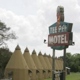 Wharton, Texas Stay at the TeePee Motel & RV Park The Tee Pee Motel is one of only a handful of tepee-themed lodges still operating in the country.