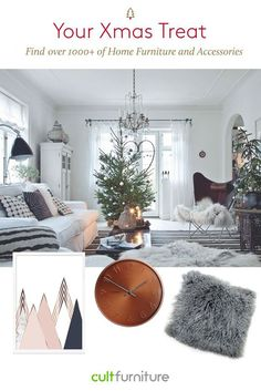 The festive season is here and it's time for your very own treat as a celebration. At Cult Furniture, get the power to instantly change the style of your room by changing things up without having to spend a fortune. Rugs, cushions, clocks and artwork are all great (functional!) ways to spruce up your home. #interior #giftideas #christmas #hotlist #shoppingideas