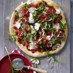 Rauke-Schinken-Pizza Rezept | LECKER