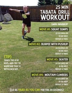 Tabata drill workout.