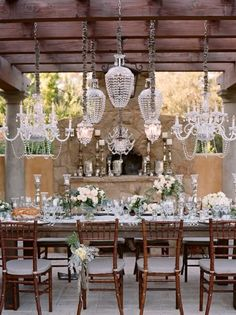 """#Chiavari chairs :) No, they're not pronounced """"sha-VAH-ree"""" but the proper Italian pronunciation, """"kee-ah-VAH-ree"""".. One wouldn't say, """"shee-AHN-tee"""" but """"kee-AHN-tee"""" [Chianti], silly!"""
