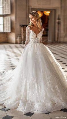 8 Beauteous Dream Wedding Dresses Ball Gown Long Sleeve Unbelievable Ideas.Silk Wedding Dress