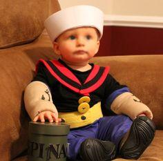 POPEYE!  sc 1 st  Pinterest & Coolest Baby Popeye Costume | Archer | Pinterest | Popeye costume ...