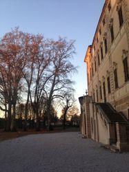 Castello Cavour, Santena, Torino. La scalinata verso il Parco.