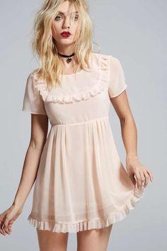 Love, Courtney by Nasty Gal Best Sunday Dress Sheer Babydoll