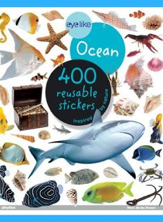 Eyelike Ocean: 400 Reusable Stickers! EyeLike #Stickers are the freshest, most vibrant #stickerbooks on the market with 400 high-quality photographic stickers in each book.