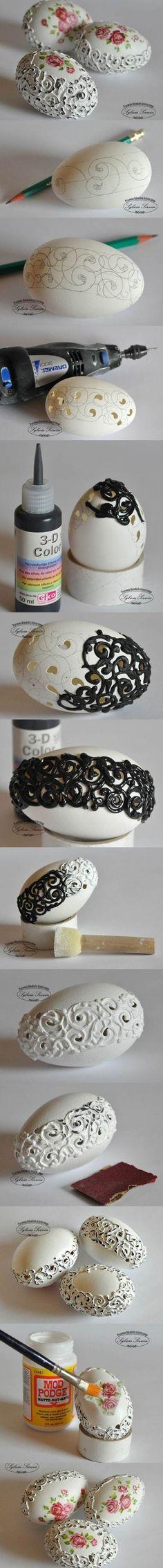 DIY Beautiful Eggshell Carving