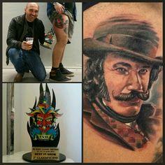 2° classificato miglior tatuaggio realizzato in convention EastCoast tattoo 2015