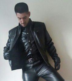 Men leather sexy.