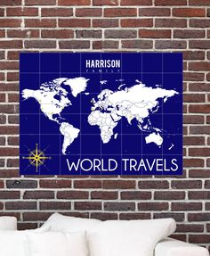 World map art interactive map mark the places youve traveled to world map art interactive map mark the places youve traveled to personalized gallery wrapped canvas or print h i04 1ps aa2 interactive map and gumiabroncs Images