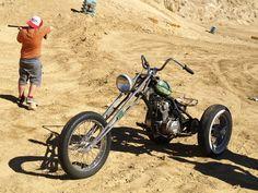 honda single dirt trike with springer front end
