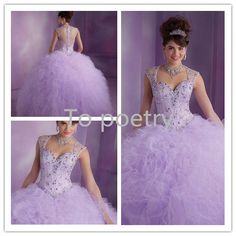 Dress Quinceanera 2014 Free Shipping Ball Gowns Light Purple Princess Quinceanera Dresses with Cap Sleeves-in Quinceanera Dresses from Apparel & Accessories on Aliexpress.com | Alibaba Group