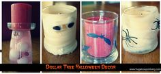 Dollar Tree Halloween Decor – Decorate with Spooky Candles on a Budget