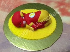 Superhero Baby Cake Topper Made of Vanilla Fondant Ready to be the center of attention on your cake.  For Baby Shower, Birthdays Celebration
