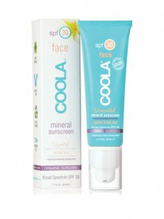 Coola Face SPF 30 Matte Finish Tint Mineral I may try this... As so many sunscreens cause rashes.