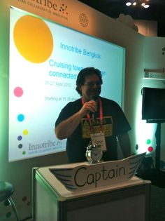 """Meet """"Captain"""" McDougall at the Innotribe/ Asian Bankers Summit #innotribe"""