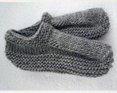 Items similar to WOOL SLIPPER SOCKS. Handmade knitted wool socks slippers for women or men.Birthday present on Etsy Knitted Slippers, Slipper Socks, Felted Slippers Pattern, Knitting Wool, Knitting Socks, Knit Socks, Easy Knitting, Free Knitting Patterns For Women, Wool Shoes