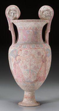 SOUTHERN ITALY. Canosa. Circa 300-250 BCE. Polychrome Pottery Volute Krater
