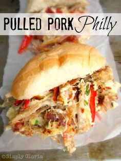 Pulled Pork Philly Sandwich | 18 Delicious Dinners To Make With Slow Cooker Pulled Pork