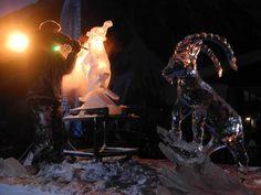 Sculpture sur glace Pralognan la Vanoise French Alps