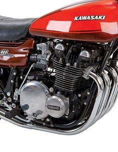 Kawasaki - Kawasaki Z - Motorrad Kawasaki 900, Kawasaki Motorcycles, Cool Motorcycles, Vintage Motorcycles, Kawasaki Ninja, Motorcycle Engine, Motorcycle Design, Ducati, Motos Retro