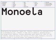Monoela Typeface