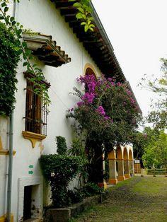Vista lateral de una hacienda mexicana