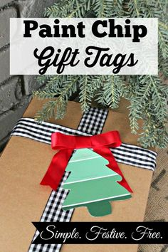 Paint Chip Gift Tags (with printable) | Southern State of Mind