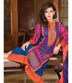 Signature Icon Embroidered Lawn Collection 2016 ZS_6A