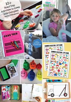 Roadtrip kids activities, car ride activities, activities for kids Roadtrip Kids Activities, Car Ride Activities, Summer Activities, Road Trip With Kids, Travel With Kids, Car Travel, Travel Tips, Travel Hacks, Travel Ideas