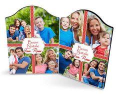Cornice natalizia Four collage