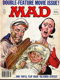 A cover gallery for the comic book Mad Mad Cartoon Network, Comic Book Covers, Comic Books, Mad Magazine, Magazine Covers, Magazine Rack, Mad Tv, Popeye The Sailor Man, Nostalgia