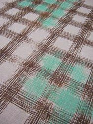 tartan in brown and aqua green from valentine viannay