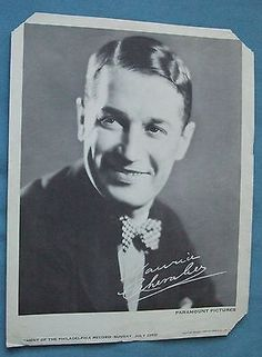 Maurice Auguste Chevalier Silent Screen Autographed Picture of 1888-1972