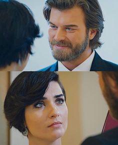 Tuba Buyukustun & Kivanc Tatlitug in cesur ve güzel a Turkish TV series 2016-2017.